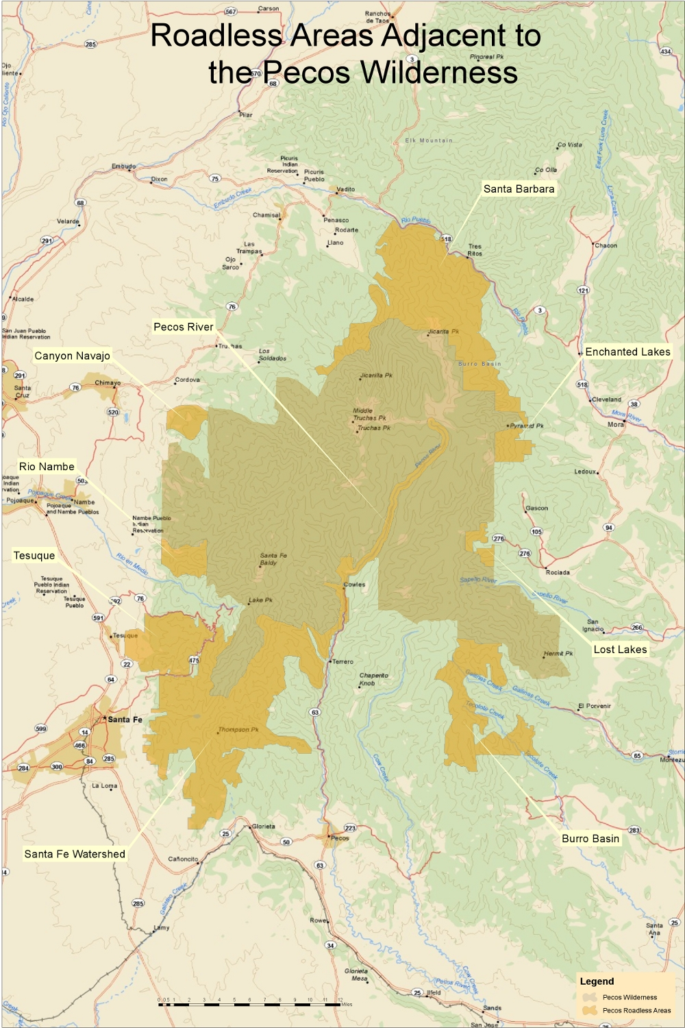 pecos overview map Web
