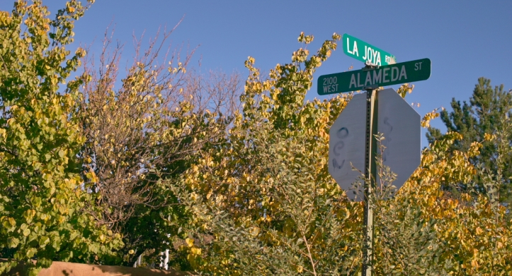 A street sign on the bottomland along the Santa Fe River. Photo by Eric Shultz