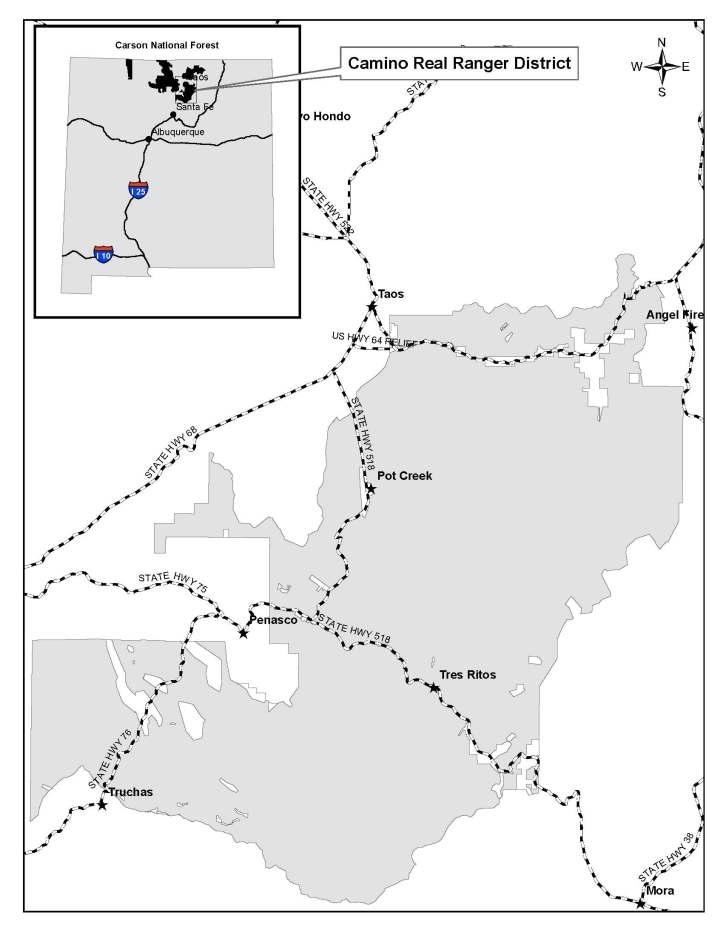 Camino Real vicinity map