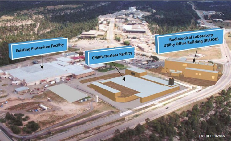 Proposed site at Los Alamos National Labs for the Chemistry and Metallurgy Research Nuclear Facility. The facility, if built, will be used in the production of plutonium 'pits,' essential in the manufacture of nuclear weapons. Source: Los Alamos National Laboratories