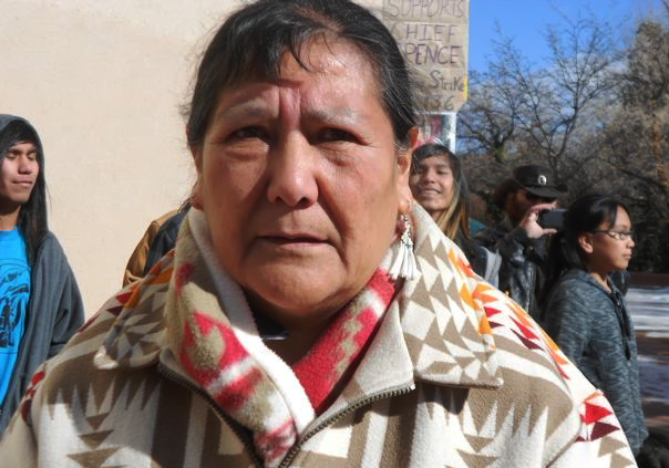 Vivki Downey of Tesuque Pueblo.
