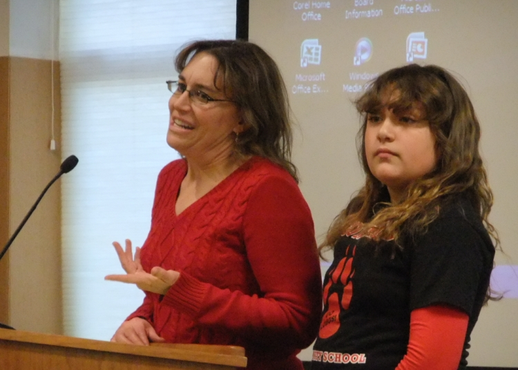Heather Wolf Espinosa and her daughter, Gonzales student Melinda Espinosa, both spoke in opposition to the proposed cellphone tower