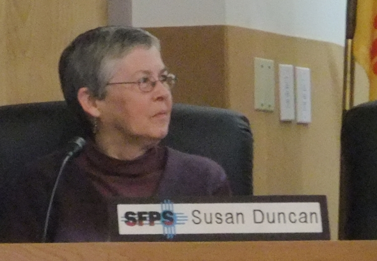One of the Santa Fe Board of Education's newest members, Susan Duncan wrote the resolution in response to families from her district's Gonzales Community School.