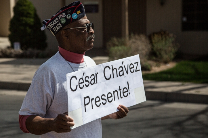 Charles Powell represented Veterans for Peace in the march