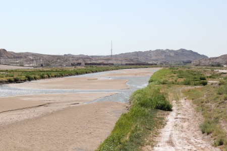 The Rio Grande near the Texas/New Mexico border. Photo by Nick Miller, borderzine.com