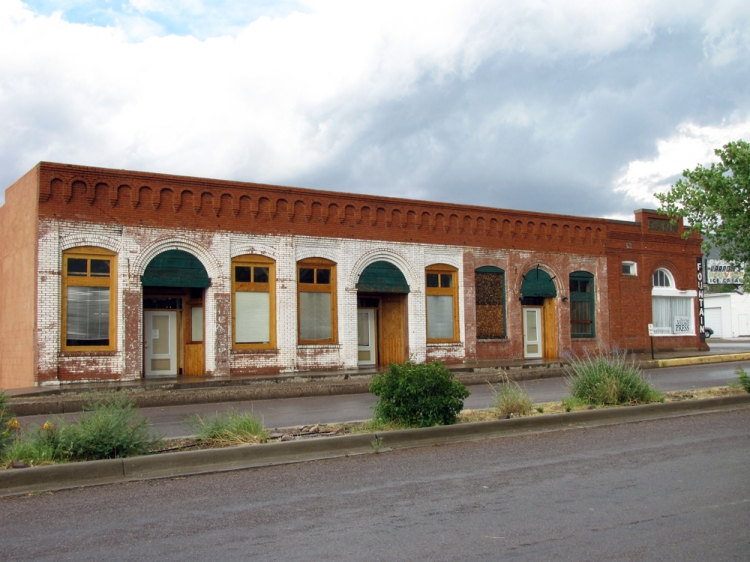 The old Magdalena Bank building is now home to the local Mountain Mail and empty offices.