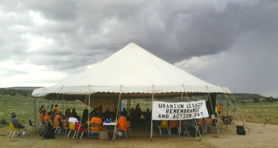 Besides marching to the spill site, the commemoration included a conference of tribal and congressional officials along with local residents to discuss, among other things, ongoing radioactive cleanup in the Church Rock area.