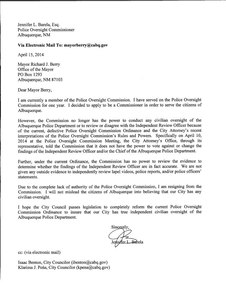 Barela POC Letter of Resignation_JPG