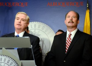 The report makes clear that the problem begins with APD leadership, which means APD Chief Gorden Eden (left) and Albuquerque Mayor Richard Berry bear final responsibility.