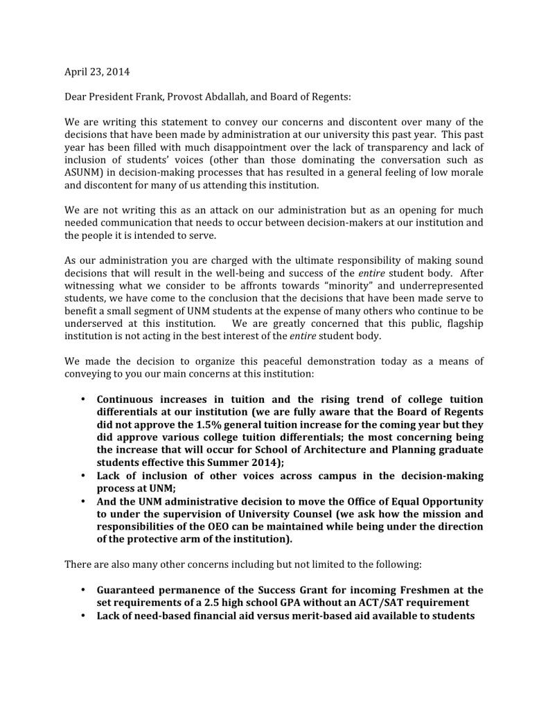 ourunm statementfinal1