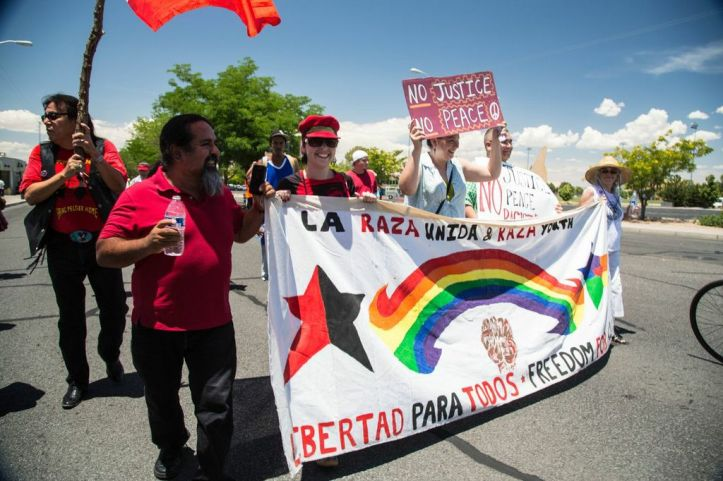 La Raza Unida also marched on Saturday.
