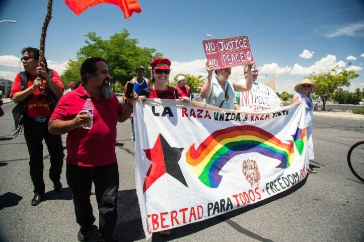 La Raza Unida also marched on Saturday.
