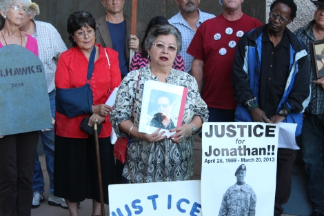 """Protest at Albuquerque City Hall over """"Killer Cop""""Competition"""