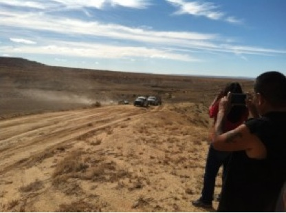 Observers watch as Hopi Rangers impound Diné Sheep. Photo courtesy of Black Mesa Indigenous Support