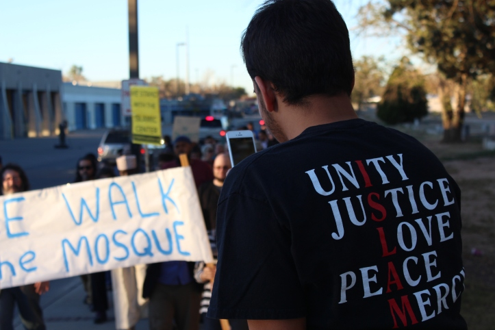 """By the time marchers reached Murad, just a few hundred yards from the Islamic Center, there were more than 250 marchers. """"I didn't expect this many marchers,"""" he told me."""