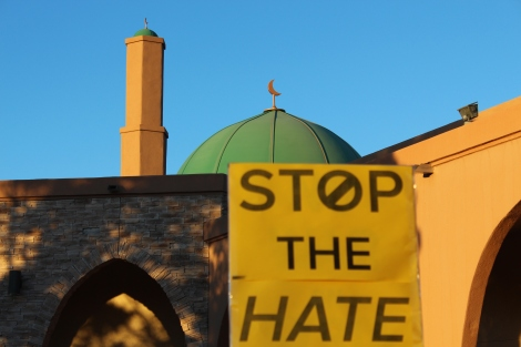 An Albuquerque March for Peace to Condemn the Firebombing of the Islamic Center