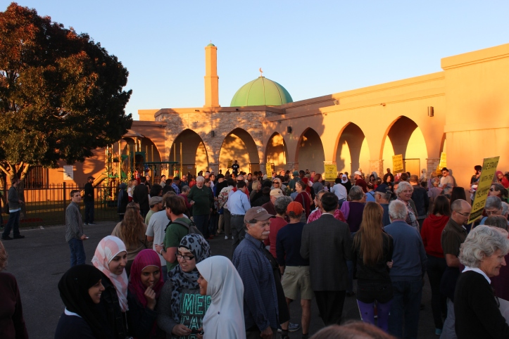After the short service, the Islamic Center offered food and fellowship for the