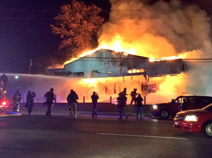 Angry protesters in Ferguson burned down a number of businesses. Commenters on CNN, and Fox News condemned property damage, calling it violence, while defending the fatal shooting of Michael Brown, calling the grand jury's decision justice.
