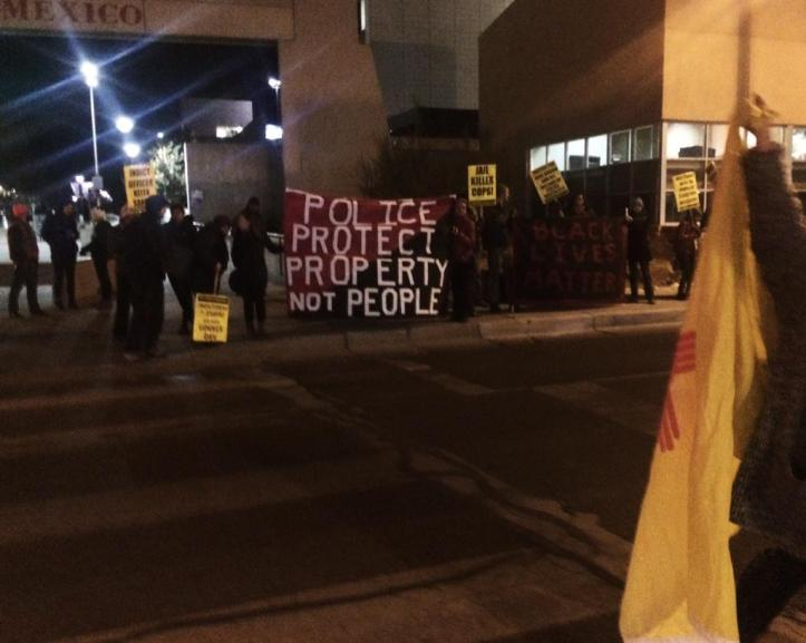 In the wake of the grand jury decision, the rally in Albuquerque grew quickly. Photo by Generation Justice