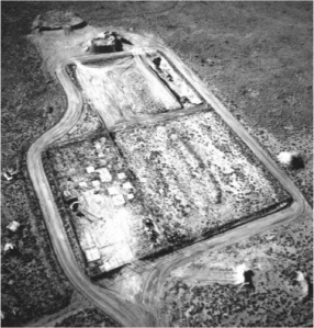 Aerial view of the mixed waste landfill at Sandia National Laboratory