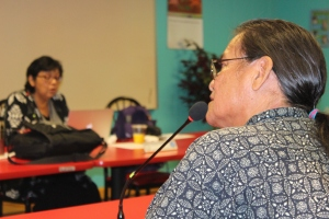 Ambrose Ashley told Commissioners about routine harassment of Navajo people by APD.