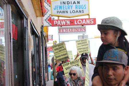 A 2008 Congressional investigation found that there was one payday  lender in Gallup for every 500 residents, and 70 percent of the customers  for these payday lenders were Native American. A New Mexico legislative investigation noted that some payday lenders and pawn operators charged interest rates greater than 1,500% APR