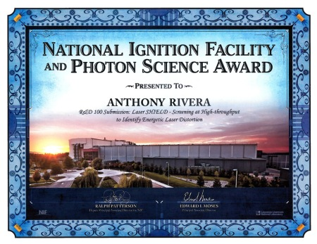 Award Rivera received while working at LLNL