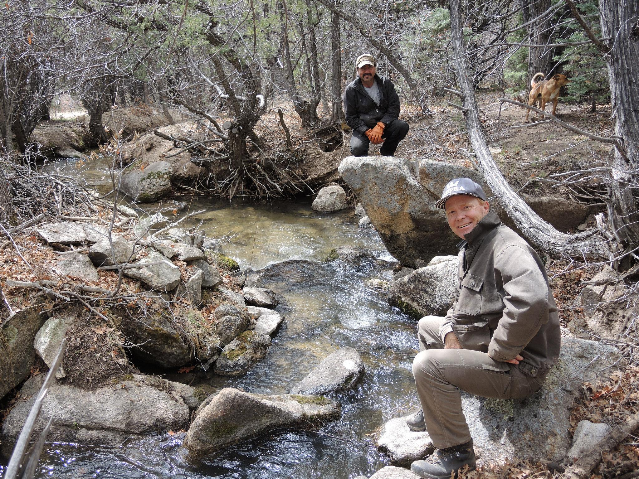 New mexico taos county llano - Acequia Madre Mayordomo Arnold Quintana And Commissioner Chris Pieper At The Rio Lucero Ditch